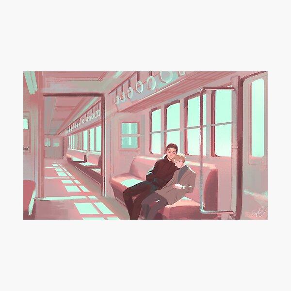 Empty Train Photographic Print