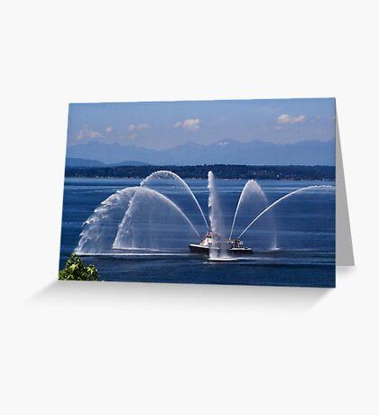 Seattle Fireboat Greeting Card