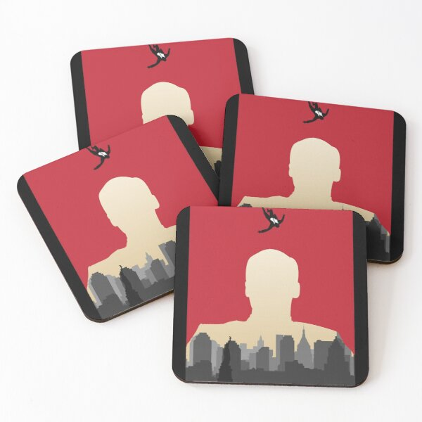 Don Draper - Minimalist Silhouette Style - TV Show Art Coasters (Set of 4)