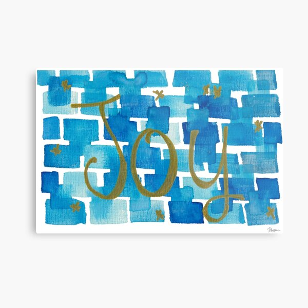 Blue Golden Joy Metal Print