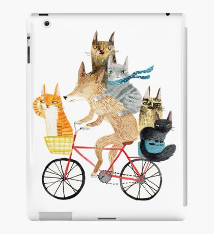 Dog and cats cycling iPad Case/Skin