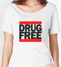 Straightedge Drug Free Women's Relaxed Fit T-Shirt