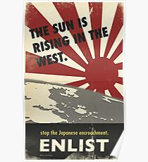 The sun is rising  Poster