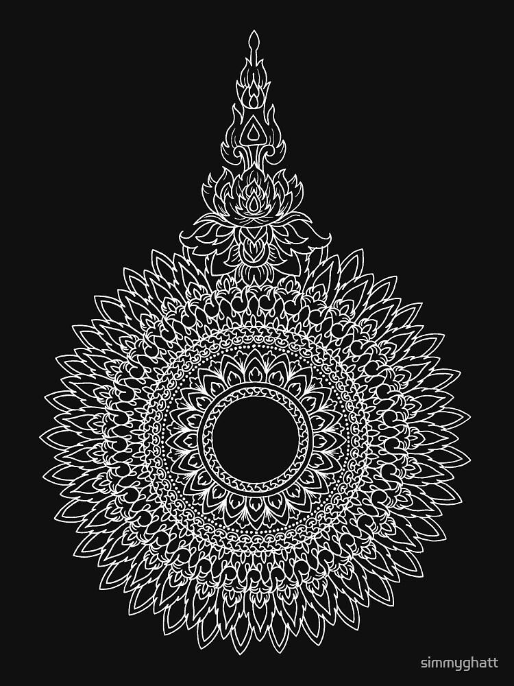 White Jai Yen | Japanese & Thai Motif Mandala by simmyghatt