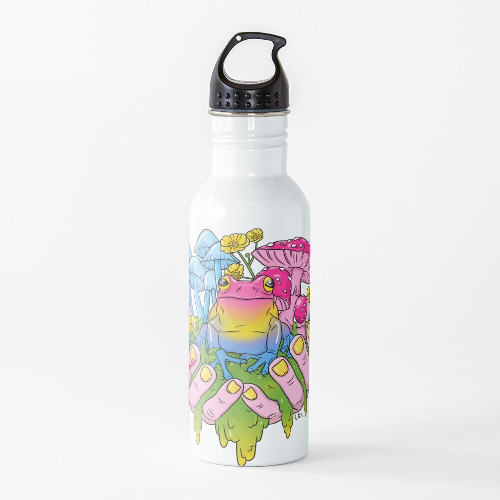 Pansexual Frog Fungi Handful Water Bottle