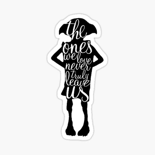 Magic Elf Silhouette Love Quote Sticker