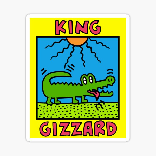 King Gizzard Design - All proceeds to charity  Sticker