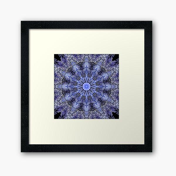 Drawing lace mandala Framed Art Print