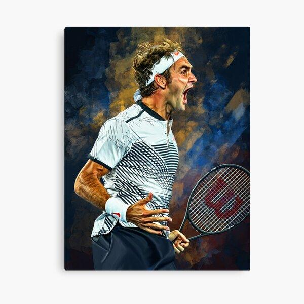 Roger Federer wins Australian Open 2017. Emotion Artwork print. Tennis fan gift. Canvas Print