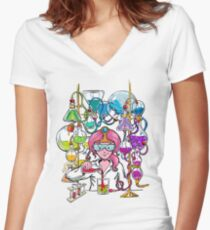 Science With Princess Bubblegum Women's Fitted V-Neck T-Shirt