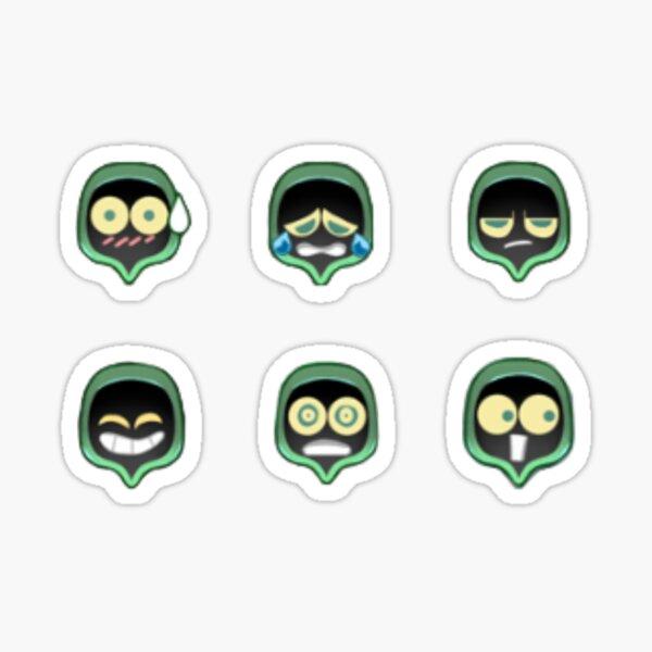 Emoticonos de sombra Pegatina