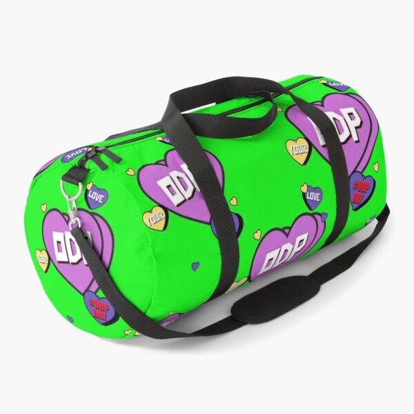 ODP Love Hearts Bright Green Duffle Bag