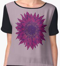 Purple flower Women's Chiffon Top