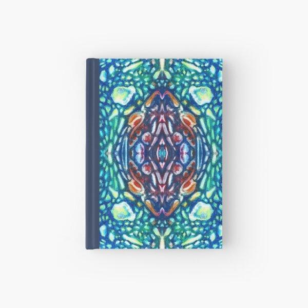 Folk art mosaic tile Hardcover Journal