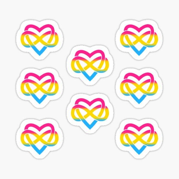 8x Pansexual Polyamory Infinity Heart Sticker