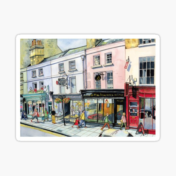 George Street in Bath, UK Sticker