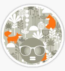 Fox in winter forest Sticker