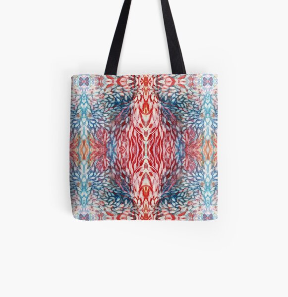 Meditation abstract flower pattern All Over Print Tote Bag