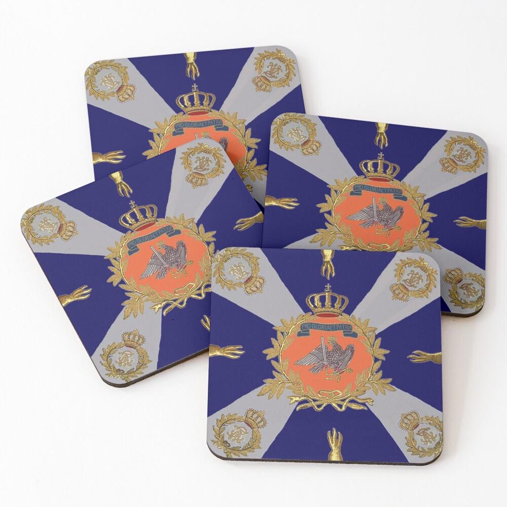German Flag 1813 Coasters (Set of 4)