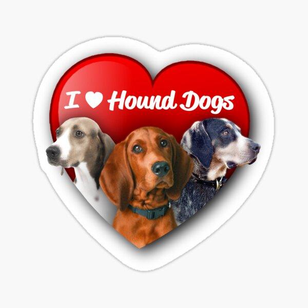 I [Heart] Hound Dogs Sticker