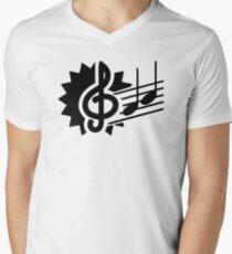 Music Notes Men's V-Neck T-Shirt
