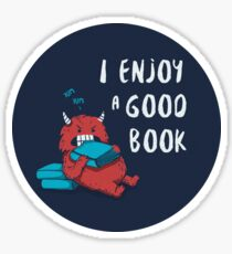I Enjoy a Good Book Sticker