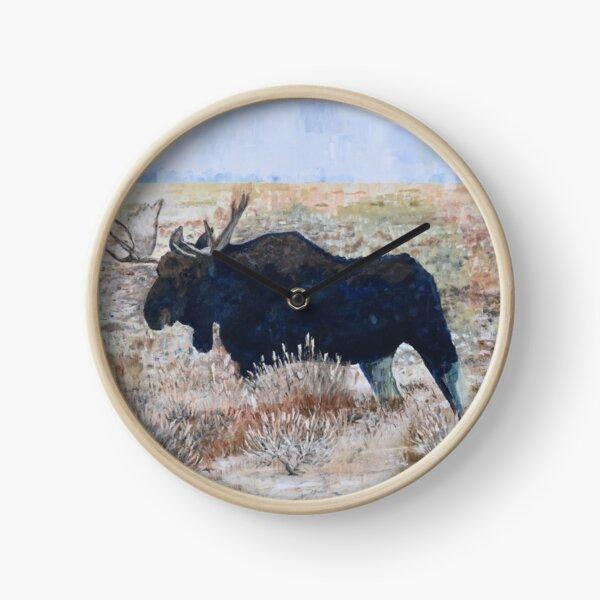 North American Wildlife Series: Moose Clock