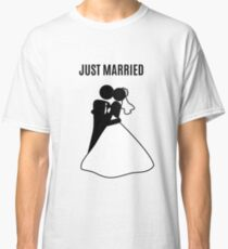 Just  Married Print Stick Figure Classic T-Shirt