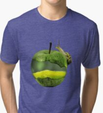 Snail on a juicy apple Tri-blend T-Shirt