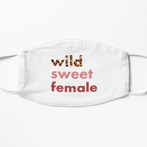 wild, sweet, female. Cooles Design für Frauen mit Leoprint Flache Maske