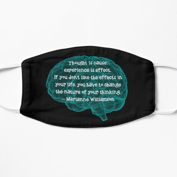 Thought is cause Flat Mask