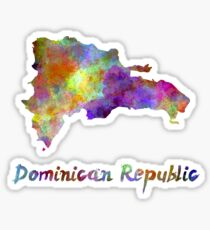 Dominican Republic in watercolor Sticker