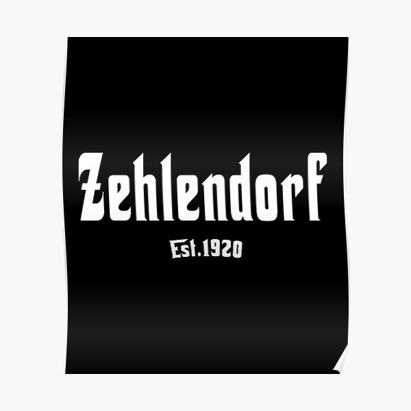 Kultiges Berlin T-shirt Zehlendorf Berliner Shirt Poster