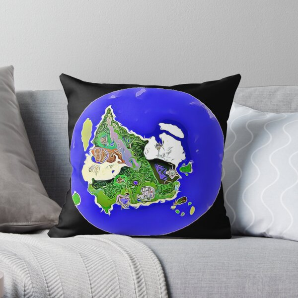 Alpinia Map Throw Pillow