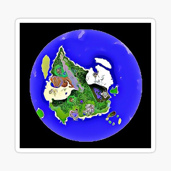 Alpinia Map Sticker