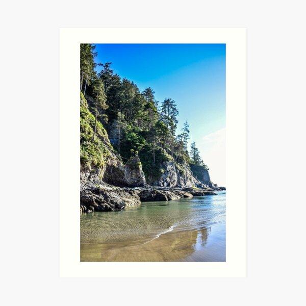 Oregon Coast Where the Trees Meet the Sea Art Print