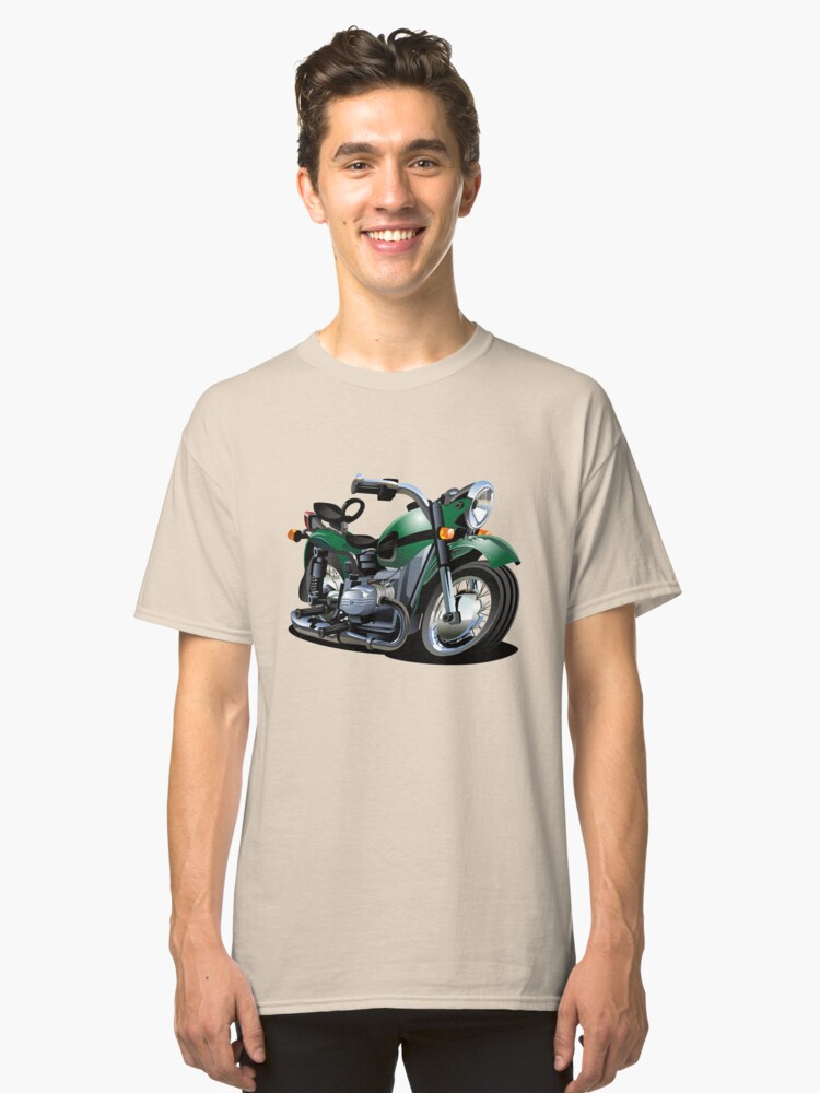 Cartoon Motorcycle Classic T-Shirt Front