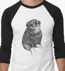 Sweet Black Pug Men's Baseball ¾ T-Shirt