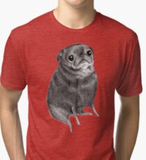 Sweet Black Pug Tri-blend T-Shirt