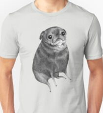 Sweet Black Pug Unisex T-Shirt