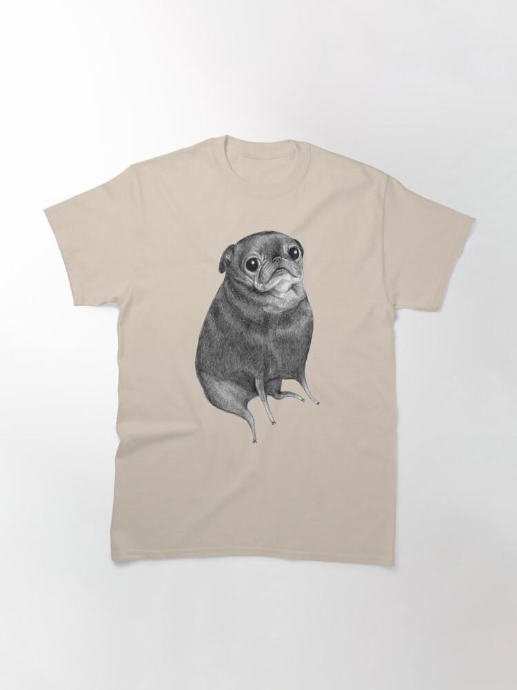 Alternate view of Sweet Black Pug Classic T-Shirt