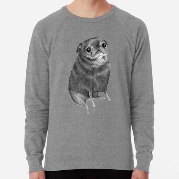 Sweet Black Pug Lightweight Sweatshirt