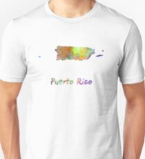 Puerto Rico  in watercolor Unisex T-Shirt