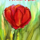 "Happy Mother's Day! ""Red Tulip"" by CarolineLembke"