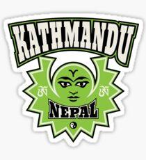 Kathmandu Nepal Sun and Moon Symbols Sticker
