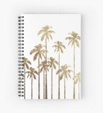 Bezaubernde Goldtropische Palmen auf Weiß Spiralblock