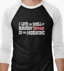 I love the smell of bacon in the morning Men's Baseball ¾ T-Shirt