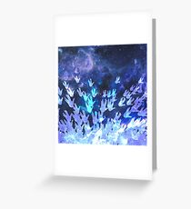 H.E.L.L.O. / blue Greeting Card