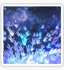 H.E.L.L.O. / blue Sticker
