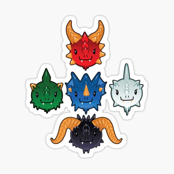 Tiamat's Tiny Terrors  Sticker
